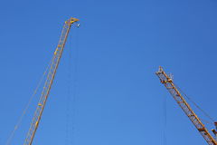 Machinery construction crane Stock Image