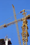 Machinery crane construction, tool of building Stock Photo