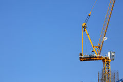 Machinery crane construction, tool of building Royalty Free Stock Photography