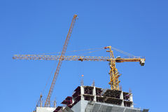 Machinery crane construction, tool of building Royalty Free Stock Images