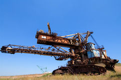 Machinery for digging pits Royalty Free Stock Photos