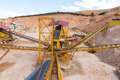 Gravel aggregate extraction Royalty Free Stock Photo