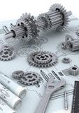 Machinery Engineering Concepts Royalty Free Stock Images