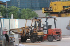 Machinery and equipment at the site IN SHENZHEN Stock Image