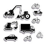 Machinery icons stock illustration