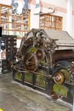Machinery In An Old Cotton Processing Factory Stock Photography