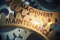 Machinery Maintenance. 3D. Stock Photos