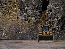 Machinery in a mine. Machinery ready for mining the rock Royalty Free Stock Photography