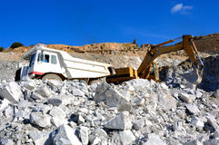 Machinery for mining. Royalty Free Stock Photography