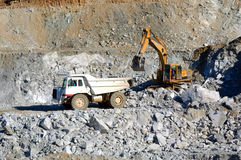 Machinery for mining. Royalty Free Stock Photo