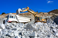 Machinery for mining. Royalty Free Stock Images