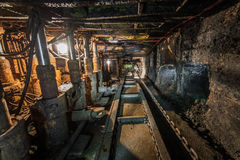 Machinery in modern coal mine Stock Photo