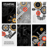 Machinery Parts Brochures Design Royalty Free Stock Image