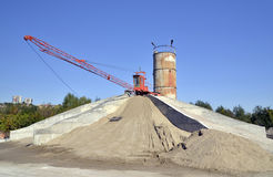 Machinery for preparing a solution of cement and s Stock Photos
