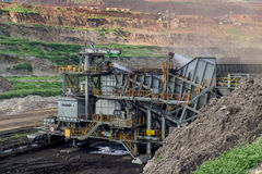 Machinery Process in Coal Mine. Heavy Machinery Process in Coal Mine Stock Photos