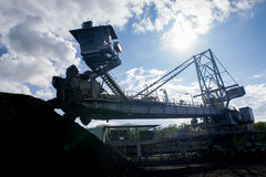 Machinery Process in Coal Mine. Heavy Machinery Process in Coal Mine Royalty Free Stock Photo