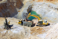 Machinery in a quarry Royalty Free Stock Photography
