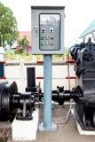 Machinery on reading water storage Stock Photos