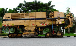 Machinery for road construction stock image