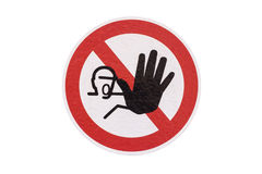 Machinery safety warning sign Royalty Free Stock Images