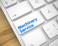Machinery Service - Text on the White Keyboard Button. 3D. Royalty Free Stock Images