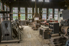 Free Machinery Shed For Vintage Railroad Stock Image - 71827841
