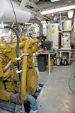 Machinery in ship engine room Royalty Free Stock Images
