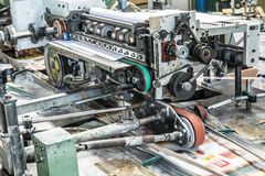 Machinery specialized in a firm paper cellophane Royalty Free Stock Photos