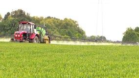 Machinery spray field stock video footage