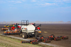 Machinery for spring field work Royalty Free Stock Photography