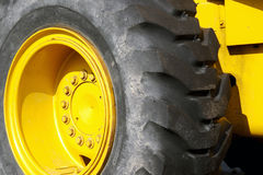 Machinery Tire Stock Photo