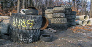 Machinery tires Stock Photography