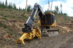 Machinery used for logging Royalty Free Stock Images