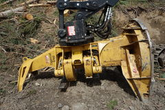 Machinery used for logging Stock Image