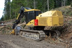 Machinery used for logging Royalty Free Stock Photo