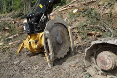 Machinery used for logging Royalty Free Stock Photos