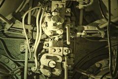 Machinery on WWII submarine Royalty Free Stock Photos