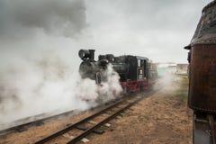 Machines à vapeur au dépôt de Panevezys Photo libre de droits