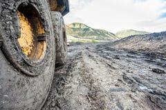 Machines énormes utilisées à l'excavation de charbon Images libres de droits