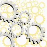 Machines in actie royalty-vrije illustratie
