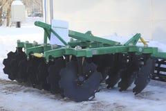 Machines agricoles, cultivateur à l'exposition Photographie stock libre de droits