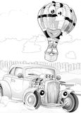 Machines - artistic coloring page Stock Images