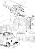 Machines - artistic coloring page Stock Photo