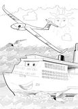 Machines - artistic coloring page Royalty Free Stock Photography