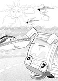 Machines - artistic coloring page Stock Photos