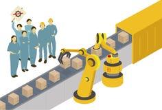 Machines contre des humains illustration libre de droits