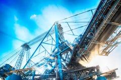 Machines d'extraction dans la mine Image libre de droits