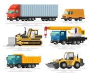 Machines de bâtiment réglées illustration de vecteur