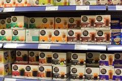 Machines de café de capsule Photographie stock libre de droits