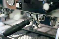 Machines de café de tableau de bord avec la lecture de pression de vapeur Image stock